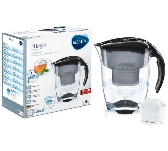 Brita Elemaris Meter XL Water Filter Jug - Black - £14.99 + Free C&C @ Argos