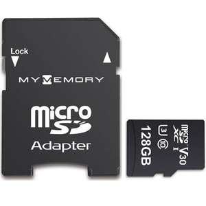 MyMemory 128GB Micro SDXC V30 U3 Card with Lifetime Warranty  £20.69  Mymemory with code