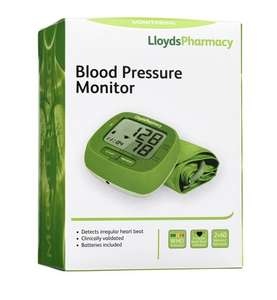 Blood Pressure Monitor and Cuff £14.99 if you use voucher code BPM5OFF free C&C from Lloyds Pharmacy on line