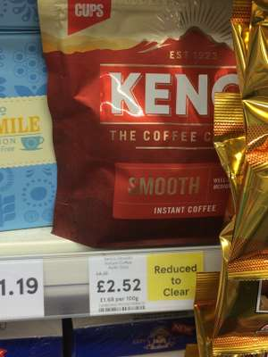 Kenco coffee 150g packs rich & smooth varieties £2.52 @ Tesco metro - Kirkcudbright