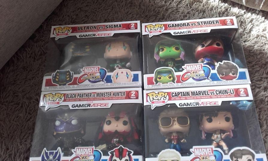 Marvel vs Capcom and Guardians of the galaxy Funko Pop 'Gamerverse' figure sets £9.99 @ B&M