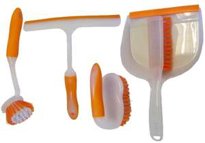 4 Piece Durable House Cleaning Kit W/ Quality PET Bristles £3.30 @ Homebase (Free C&C)