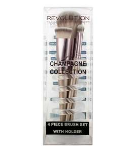 Revolution Champagne 4 Brushes And Holder set (was £15) now £4 + £1.95 delivery at Revolution Beauty (Upto 70% Sale - Items from £1.00)