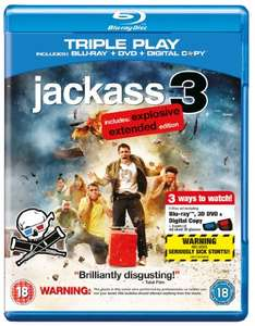 Jackass 3: The Explosive Extended Edition 3D (Triple Play) [Blu-ray] [2010] [Region A & B & C] @ Amazon