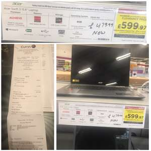 "ACER Swift 3 SF315-41 15.6"" AMD Ryzen 7 Laptop - 256 GB SSD, Grey £419 instore at Currys PC world Clearance Manchester"