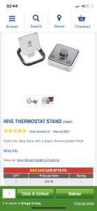 HIVE THERMOSTAT STAND £22.49 Screwfix