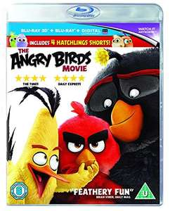 The Angry Birds Movie [Blu-ray 3D + Blu-ray + UV Copy] £4.88 (Prime) / £7.87 (non Prime) Sold by TwoRedSevens and Fulfilled by Amazon