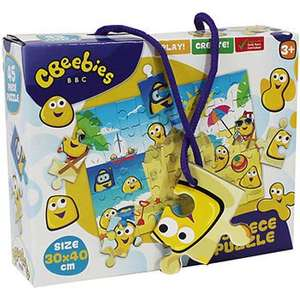 CBeebies 45 Piece Puzzle Only £1.60 & CBeebies My First Wooden Peg Board only £2.40 with code Free C&C @ The works
