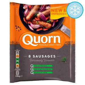 Quorn Meat Free Sausages x8 336g for £1 @ Tesco (from 09/10)