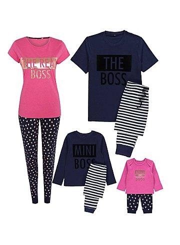 The Boss Mini Me Christmas Pyjamas Set For all the family from £5 @ Asda