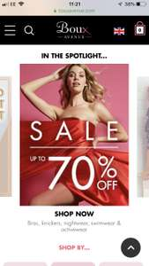 Boux Avenue upto 70% off sale + Free Click & Collect