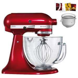 Kitchen Aid Cherry red Stand mixer with Ice Cream maker attachment and cookbook £314 (with newsletter discount) @ Wayfair
