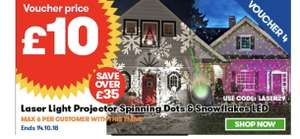 Christmas projectors £10 / £14.99 delivered with code @ JTF