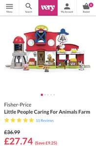 Fisher price little people caring for animals farm £27.74 @ Very - Free c&c