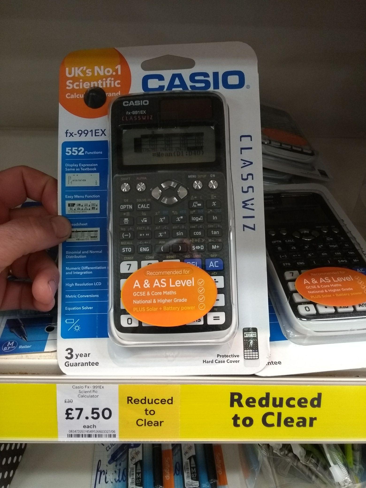 Casio fx-991EX calculator £7.50 @ Tesco - Lincoln