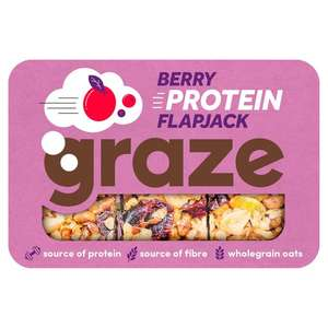 Graze Berry Protein Flapjack 53g 4 For £1 Or 30p Each @ Heron Foods