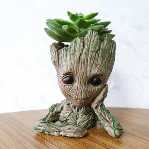 Tree Man Flower Pot Doll Model Desk Ornament Gift Toy (Apricot Meditation) £2.33 delivered w/code  @ Gearbest