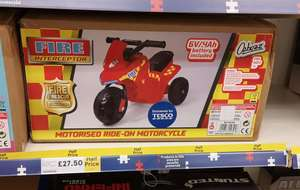 Kids 6v electric scooter. 2 colours. Motorised ride on motorcycle £27.50 @ Tesco instore