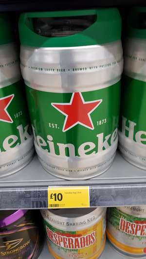 Heineken Keg 5 Litre £10 @ Morrisons instore (edit - now online)