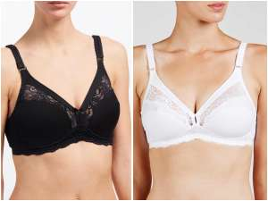 John Lewis & Partners Lauren Cotton Blend Non Wired Non Padded Bra, in Black & White. 50% off! - £10 (+ £2 C&C or £3.50 Delivery)
