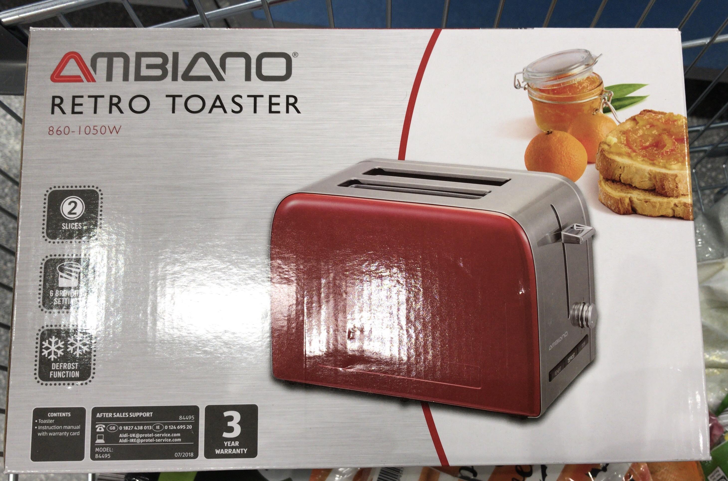 Retro Style Toaster (2 slice) £6.99 instore @ Aldi Chelmsford