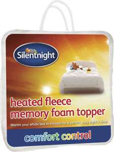 Silentnight heated fleece memory foam king size mattress topper £40.50 delivered at eBay Tesco outlet