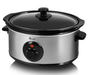 Swan Stainless Steel Slow Cooker - 3.5L for £14.99 free C&C @Robert Dyas