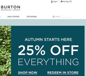 Burton Clothing - 25% Off everything Online or Instore - Expires Sunday 14th Oct