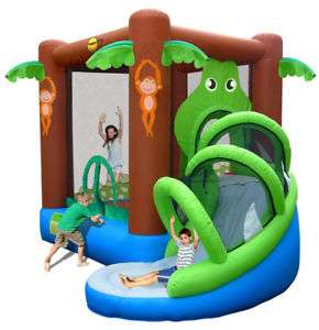 Action Air Crocodile Airflow Inflatable Bouncy Castle and Slide Play Area - £143.65 delivered @ Tesco eBay outlet