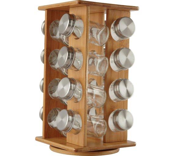 Argos Home Wooden Revolving Spice Rack with 16 Jars -£16 + Free C&C @ Argos
