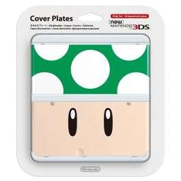 Nintendo 3DS Cover Plate - Green Mushroom £2.99 Delivered @ Go2Games