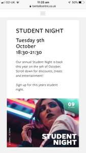 Bentall Centre London Kingston, Various STUDENT Discounts at many Stores for one night only!