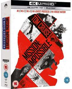 Mission Impossible 1-5 Boxset on 4K for £34.99 with any other purchase at HMV