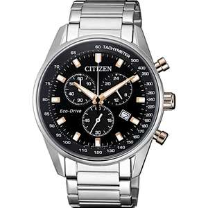 Citizen Eco-Drive Men's Stainless Steel, Solar, sapphire crystal Watch, £109.99 at H.Samuel