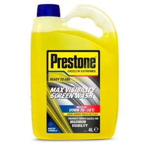 Prestone Autumn/Winter Screenwash 4L - half price £2.50 Tesco