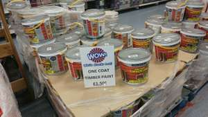 Ronseal OneCoat Timber Care 5L - £1.50 @ B&M