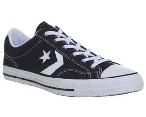 Converse Star Player Ox Trainers Almost Black White for £30 free C&C @ Office