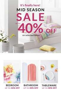 Zara Home - Mid Season Sale up to 40% off online and instore!