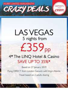 Cheap Las Vegas Break - 4* The LINQ Hotel & Casino, 5 NIGHTS FROM £359PP @ Tui  Exeter