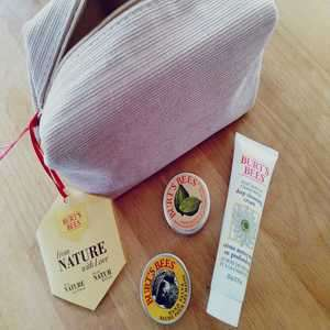 Burt's Bees items from £3.69 delivered w/code + FREE Burt's Bees Cosmetic bag w/ goodies worth £10 WYB 2 products @ Look Fantastic