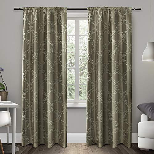 Exclusive Home Curtains Como Rod Pocket Window Curtain Panel Pair, Stone, 54x84  £7.37 prime / £11.86 non prime amazon
