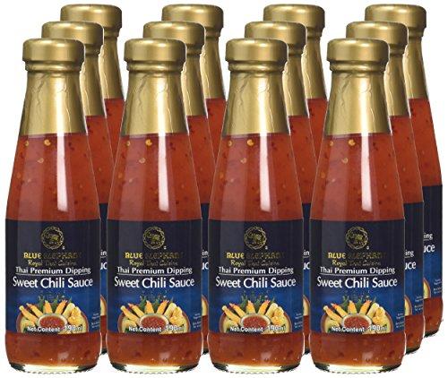 Blue Elephant Royal Cuisine Thai Premium Dipping Sweet Chili Sauce 190 ml (Pack of 12) £9 / £13.49 non prime amazon