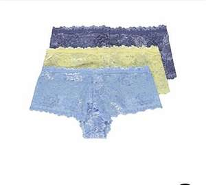 No VPL Lace Short Knickers 3 Pack free c+c £4 @ Asda