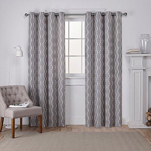 Exclusive Home Baroque Textured Linen Look Jacquard Curtain Pair Ash Grey, 54x84 £7.61 prime / £12.10 non prime amazon