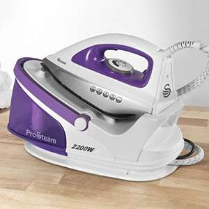Swan SI11010N Steam Generator Iron with Ceramic Soleplate and 100g/min Continuous Steam, 2200W, Purple/White - £43 delivered @ Amazon
