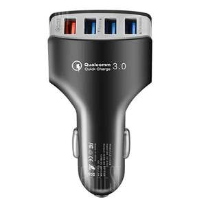 4 Ports QC3.0 Fast Charging Car Charger - ASH GRAY - £2.71 delivered @ Gearbest