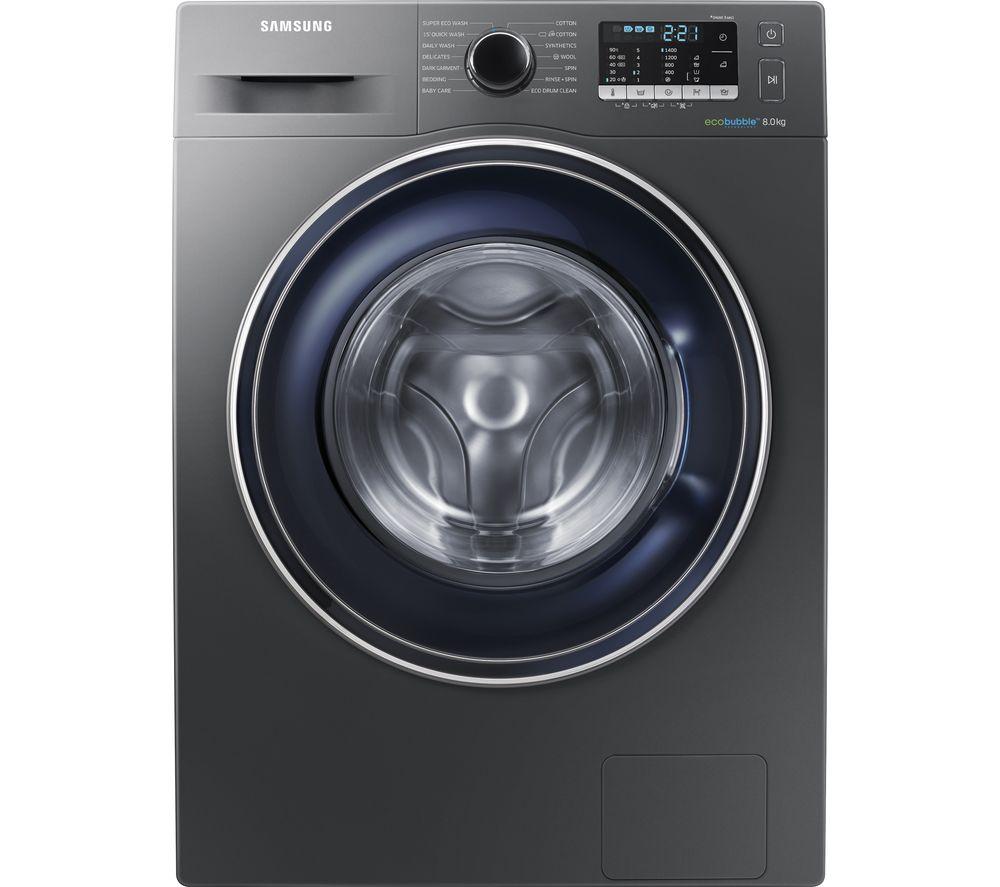SAMSUNG Ecobubble WW80J5555FX/EU 8KG 1400RPM Washing Machine,Graphite/White £341.10 w/code / SAMSUNG AddWash 8kg 1400rpm £386 w/code @Currys