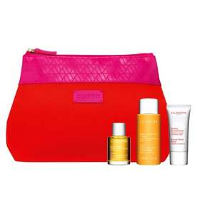 Boots Clarins offer.  £7.50 points wyb two products, Crackers £10 Clarins Revitalising Heroes £20.  Further free gift wyb two Heroes sets