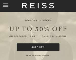 REISS Sale - Up to 50% off