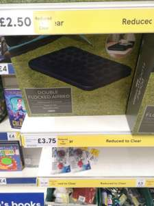 Air bed single £2.50, double £3.75 in Tesco Paisley